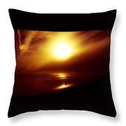 Beach Night Light.. Throw Pillow