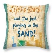 Beach Notes-jp3762 Throw Pillow