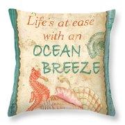 Beach Notes-jp3763 Throw Pillow