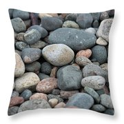 Beach Of Stones Throw Pillow
