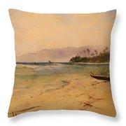 Beach Of Waikiki  Throw Pillow
