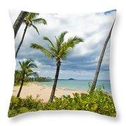 Beach On Maui 23 Throw Pillow