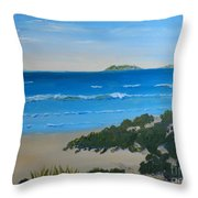 Beach On The North Coast Of Nsw  Throw Pillow