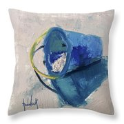 Beach Pail Pal Throw Pillow