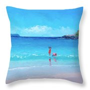Beach Painting - A Sea Breeze Throw Pillow