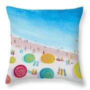 Beach Painting - Beach Bliss Throw Pillow