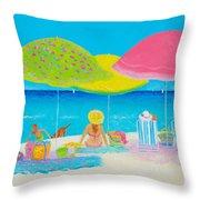 Beach Painting - Beach Life Throw Pillow