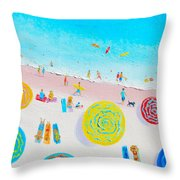 Beach Painting - Lazy Lingering Days Throw Pillow