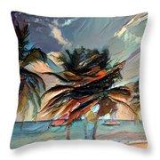 Beach Palms - Multi 9a Throw Pillow
