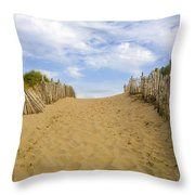 Beach Path To The Sea Throw Pillow