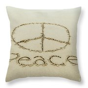 Beach Peace Throw Pillow