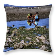 Beach Play Throw Pillow