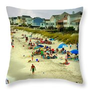 Beach Play Throw Pillow