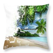 Beach Puzzle Throw Pillow