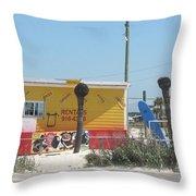 Beach Rentals Throw Pillow