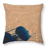 Beach Retro Throw Pillow