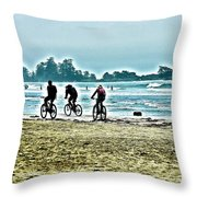 Beach Ride Throw Pillow