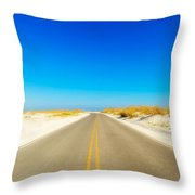 Beach Road Throw Pillow