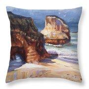 Beach Rocks Throw Pillow