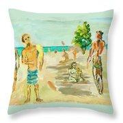 Beach Scence Throw Pillow