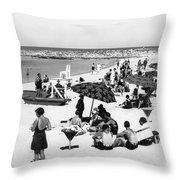 Beach Scene At Cape Cod Throw Pillow