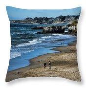 Beach Scene California  Throw Pillow