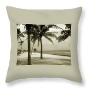 Beach Scene In Key West Throw Pillow