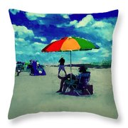 Beach Scene Pawleys Island Sc Throw Pillow