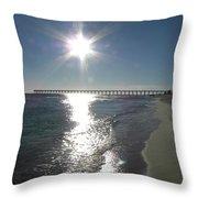 Beach Scene Throw Pillow