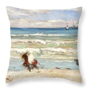 Beach Scene Tangier Throw Pillow