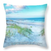 Beach Scripture Verse  Throw Pillow