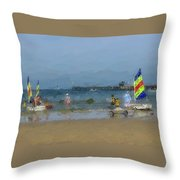 Beach Serene  Throw Pillow