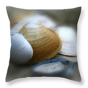 Beach Shells Throw Pillow