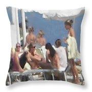 Beach Side Throw Pillow