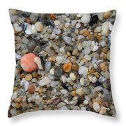 Beach Stones Throw Pillow