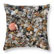 Beach Stones Throw Pillow