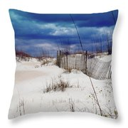 Beach Storm Throw Pillow