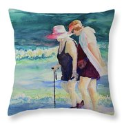 Beach Strollers II Throw Pillow