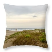 Beach Sunrise At South Padre Island, Tx Throw Pillow