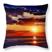 Beach Sunset 5184 Throw Pillow