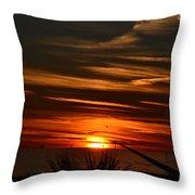 Beach Sunset Alabama Throw Pillow