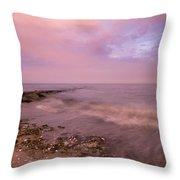 Beach Sunset In Connecticut Landscape Throw Pillow