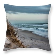 Beach Surrender Throw Pillow