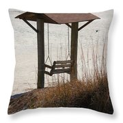 Beach Swing Throw Pillow