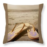 Beach Therapy Throw Pillow