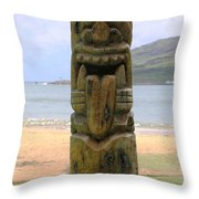 Beach Tiki Throw Pillow