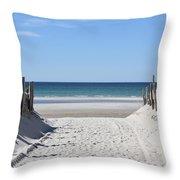 Beach Time Entrance Throw Pillow