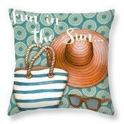 Beach Time-jp3618 Throw Pillow