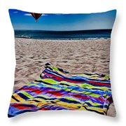 Beach Towel Throw Pillow