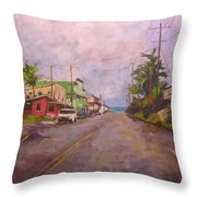 Beach Town Throw Pillow